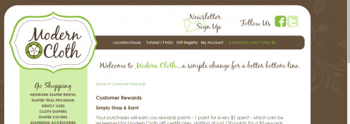 Modern Cloth Diapers Customer Rewards