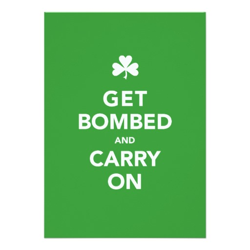 Get Bombed & Carry On Invitation