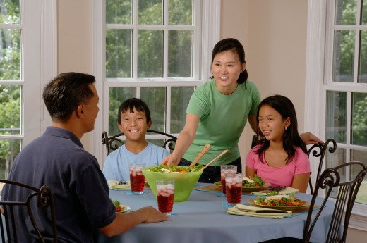Observing family meals is a good start in learning to cook.
