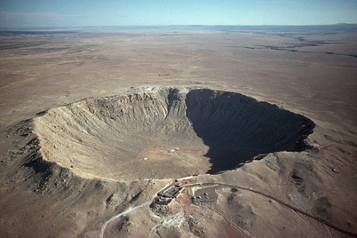 This impact (meteor) crater in Winslow, Arizona, is one of about 200 on Earth. At 50,000 years old, it's also one of the newest.