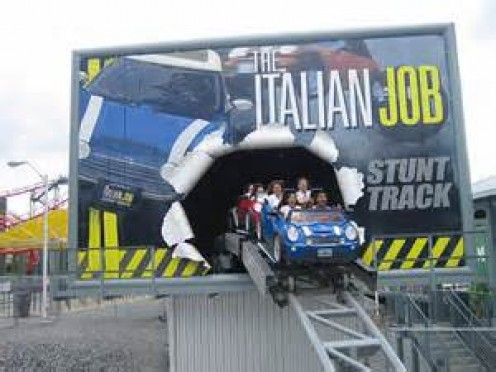 Italian Job Stunt Track opened in 2005 and it recreates the final stunt scene from the movie of the same name. What a rush!