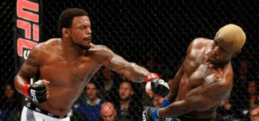 Michael Johnson in action against former UFC LW  Melvin Guillard