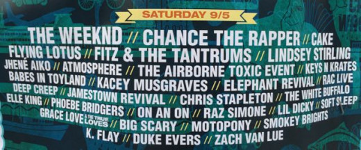 Bumbershoot's Saturday lineup.  Yes, one ticket would let you see all of these bands if you had a Harry Potter time turner.