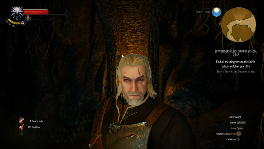 Witcher selfie. Off camera is someone's head.