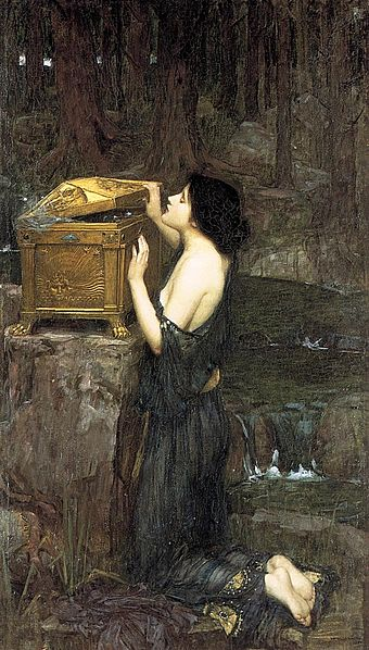 Pandora's Box - John William Waterhouse (1849–1917) - PD-art-100