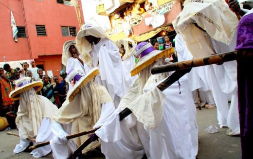 Masquerades at Eyo Festival