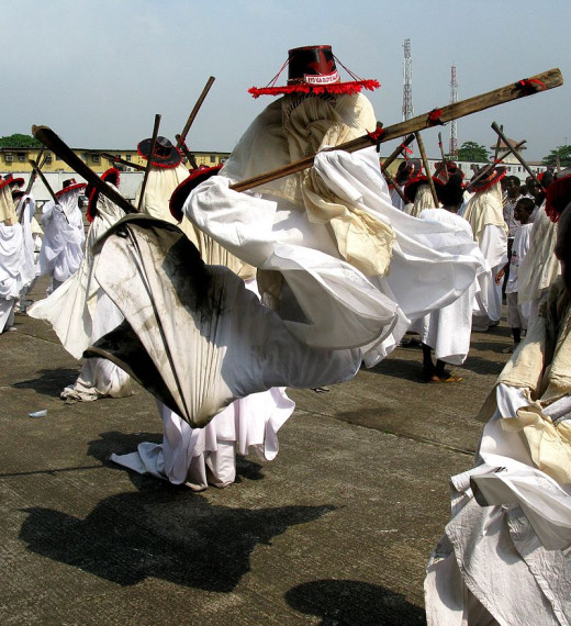Eyo Iga Jump performed by a masquerade