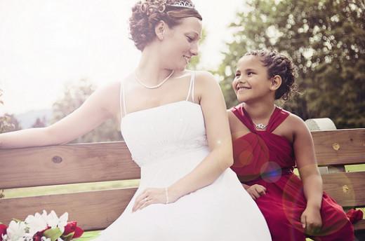 Junior Bridesmaid and Bride