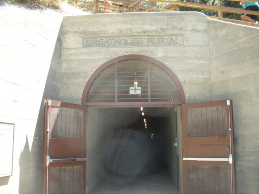 Greathouse Portal; the entrance to the visitor center