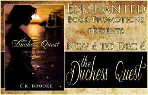 My tour banner from the blog tour for my book, The Duchess Quest, designed by Majanka from Enchanted Book Promotions.