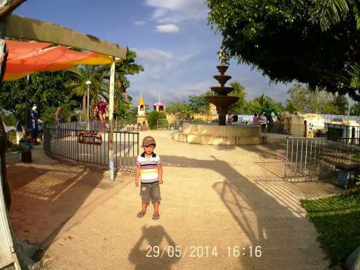 Inside Sagbayan Peak Kids Town.