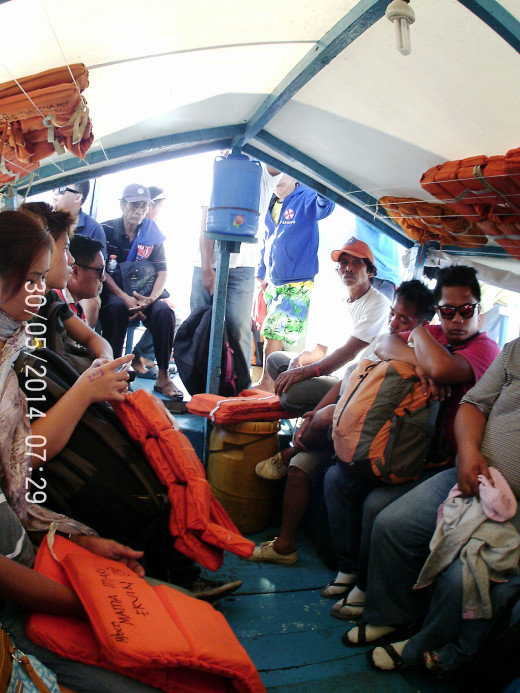 Banca going to Bato, Leyte
