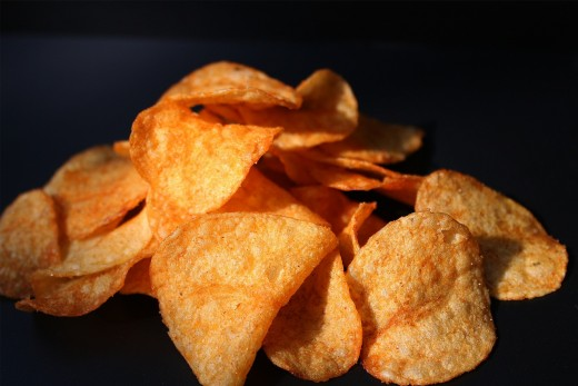 Oftentimes, we snack on foods that have lots of salt, especially potato chips.