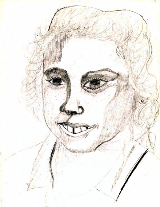 A student's self portrait.