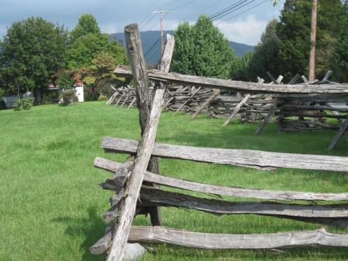 Civil War Era Fences At Bolivar Heights Battlefield