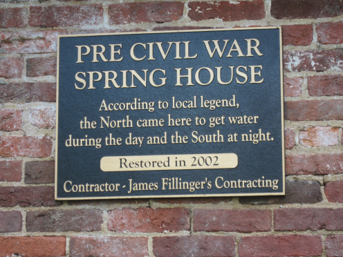 Sign On Building At Harpers Ferry