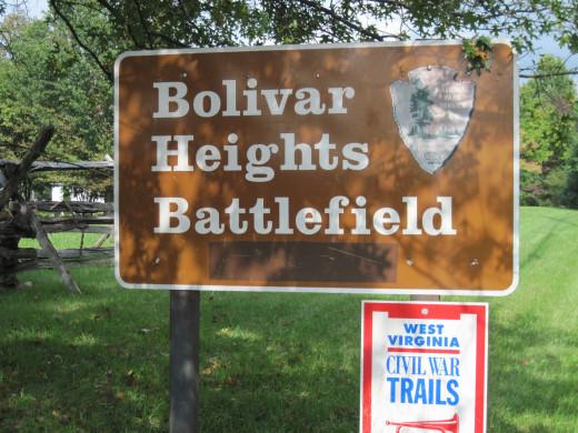 Sign At Entrance To Bolivar Battlefield
