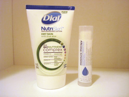 Winter Essentials: A moisturizer and lip balm with SPF
