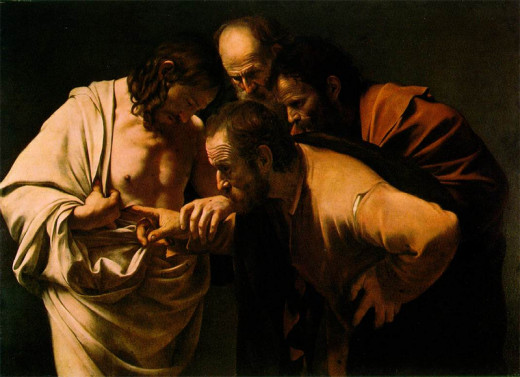 incredulity of Saint Thomas by Caravaggio