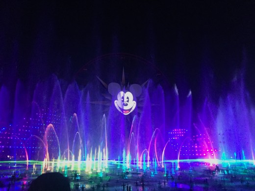 World of Color view with the premier seating.