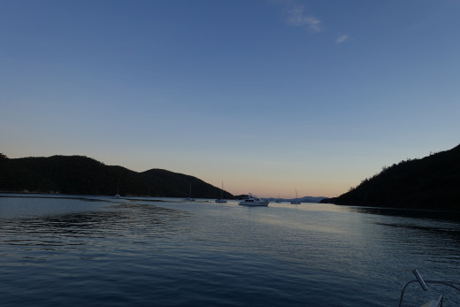 Sunset in Nara Inlet on the first night of the Charter
