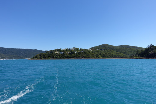 Shute Harbour from Whitsunday Passage