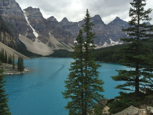 Moraine Lake and the Ten Peaks around it.  Banff National Park, Canada