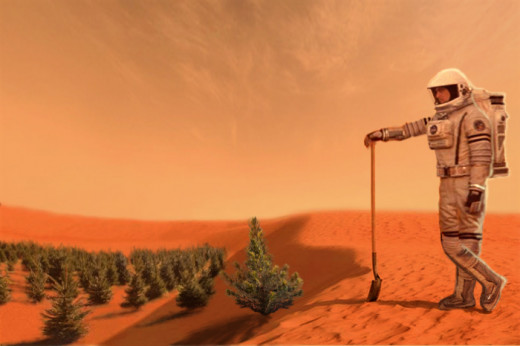 FARMING in the year 2100 in a Martian-like atmosphere. TRUE or FALSE ?