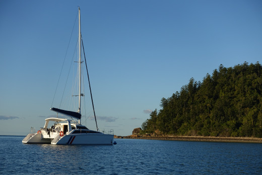 'Cat Nap' on a mooring in Tongue bay
