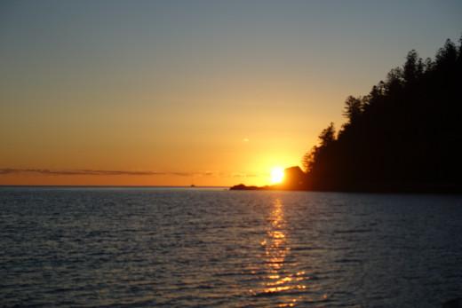 Sunrise at Tongue Bay the morning we left for Hamilton Island