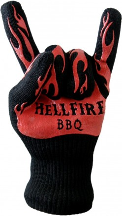 #1 BBQ Gloves Resist Flame and Heat to 666F - Devilishly Hot! Barbecue and Kitchen Oven Mitts have Grippy Silicone Fingers and Cotton Lining for Grill, Smoker, Pit, or Fireplace - Guaranteed 666 Days