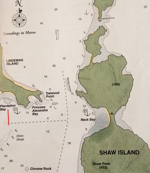 We anchored at Plantation Point