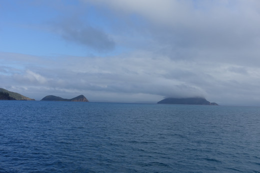 Almost there. Border and Dumbell Island in the distance