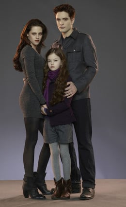 Awww... Kristen Stewart and Robert Pattinson made a pretty good Bella Swan & Edward Cullen in The Twilight Saga - and wasn't Mackenzie Foy the perfect casting for an offspring between them? ;)