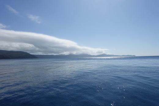 Looking north into the Coral Sea