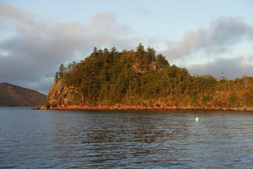 Sundown at Dumbell Island