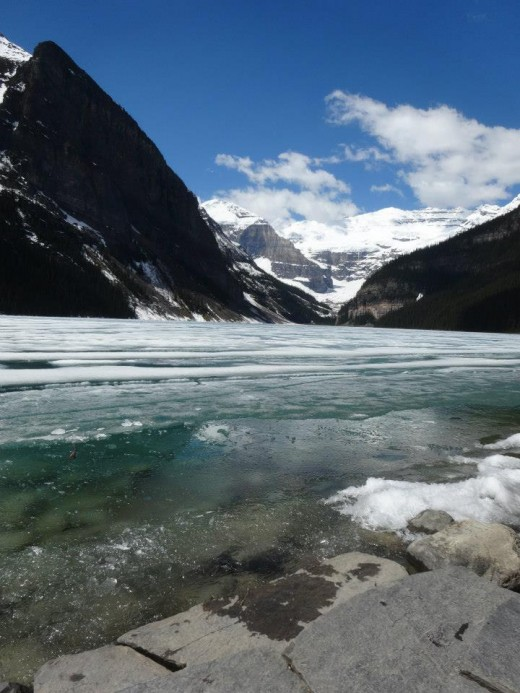 Lake Louise, photo taken in early June. Banff National Park, Canada