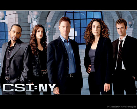 CSI seemed to like placing the minority character(s) to one side.