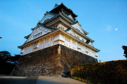 Osaka Castle Illumination Osaka Japan
