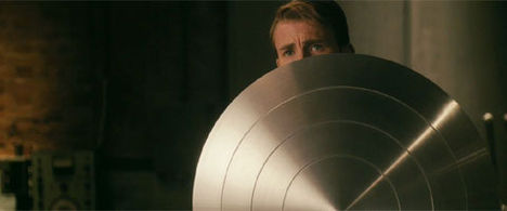 The vibranium shield in Captain America: the First Avenger