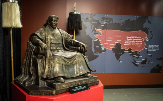 Genghis Khan and his empire at the Pacific National Exhibition fair in Vancouver, Canada, 2013.
