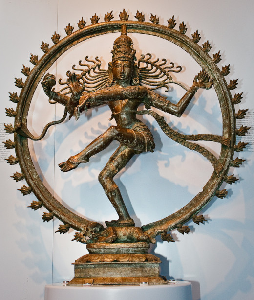 Shiva is the destroyer and recreator of life. He is sometimes called the lord of the dance. He ends the dance of life so that a new dance can begin.