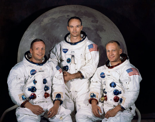 Apollo 11 crew, who made the first manned smooth and successful landing: Commander Neil Armstrong, CM pilot Michael Collins, and LM pilot Buzz Aldrin