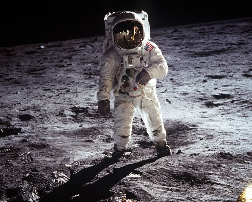 "Armstrong: ""One small step for man, one giant leap for mankind."""