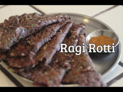 Preparation of Green peas Ragi Roti