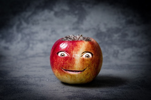 Apple funny face
