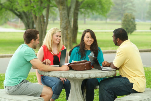 You can meet and chat with college students as you're doing a campus visit.