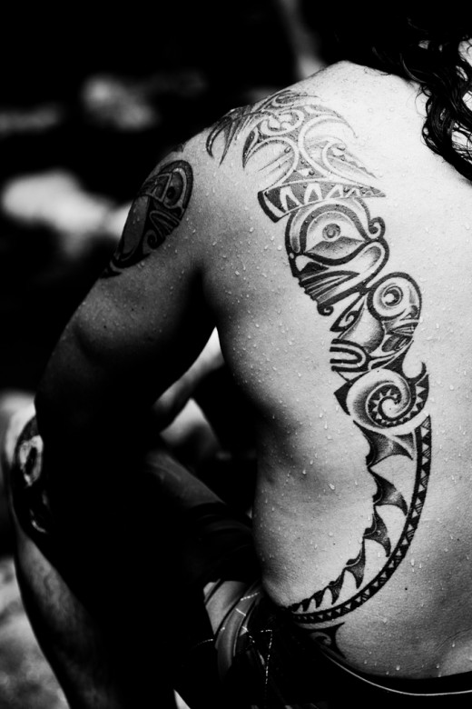 A Polynesian tattoo