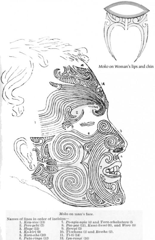A Maori moko design