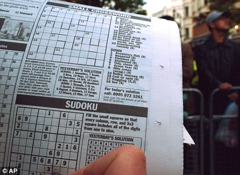 Most newspaper have sections for crossword and sudoku for its readers to answer.